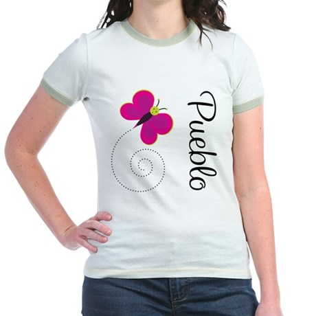 Cute Pueblo Colorado Jr. Ringer T-Shirt