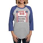 vote BOB copy.png Womens Baseball Tee