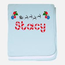 Stacy, Christmas baby blanket