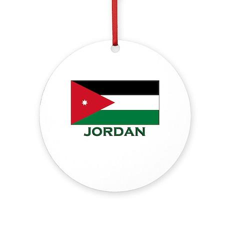 Jordan Flag Stuff Ornament (Round)