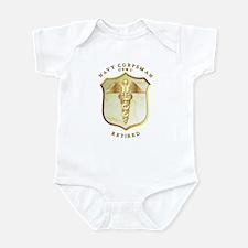 Corpsman USMC Retired Infant Bodysuit