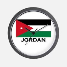 Jordan Flag Merchandise Wall Clock