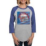 Vote BOB BIG Button 203_H_F co Womens Baseball Tee