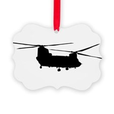 Cute Army helicopter Ornament