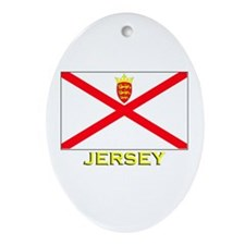 Jersey Flag Stuff Oval Ornament