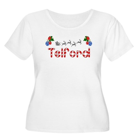 Telford, Christmas Women's Plus Size Scoop Neck T-