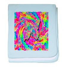 tye dyed multicolor centered butterly art illustra