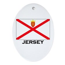 Jersey Flag Merchandise Oval Ornament