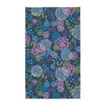 Layer Flowers Blue 3'x5' Area Rug
