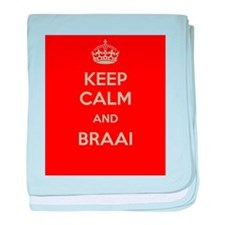 Keep Calm and Braai baby blanket