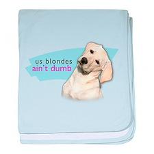Dumb Blonde baby blanket