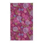 Layer Flowers Magenta 3'x5' Area Rug