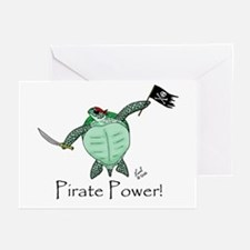 Pirate Sea Turtle Greeting Cards (Pk of 10)