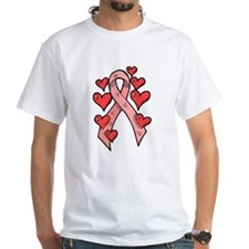 Pink Ribbon with Hearts Shirt