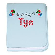 Tye, Christmas baby blanket