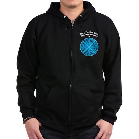 IT Wheel of Answers. Zip Hoodie (dark)