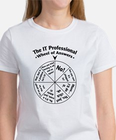 IT Professional Wheel of Answers Tee