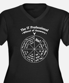 IT Professional Wheel of Answers Women's Plus Size