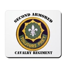 SECOND ARMORED CAVALRY REGIMENT Mousepad