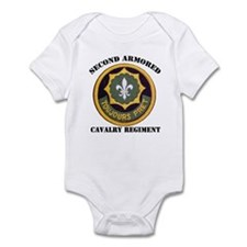 SECOND ARMORED CAVALRY REGIMENT Infant Bodysuit