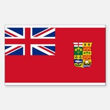 Flag of Canada 1868-1921 Sticker (Rectangle)