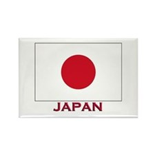 Japan Flag Stuff Rectangle Magnet