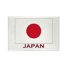Japan Flag Stuff Rectangle Magnet