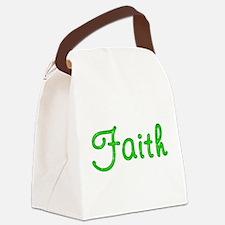 Faith Glitter Gel Canvas Lunch Bag