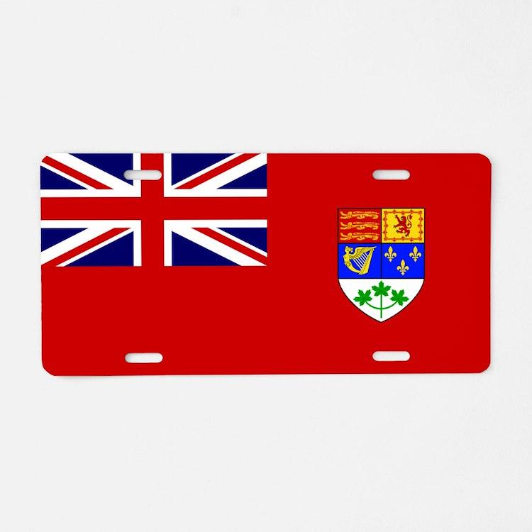 Flag of Canada 1921 - 1957 Aluminum License Plate
