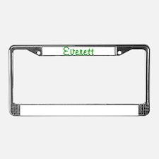 Everett Glitter Gel License Plate Frame