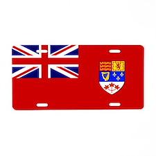 Flag of Canada 1957 - 1965 Aluminum License Plate