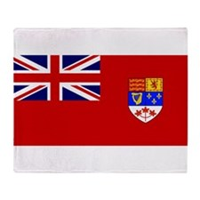 Flag of Canada 1957 - 1965 Throw Blanket