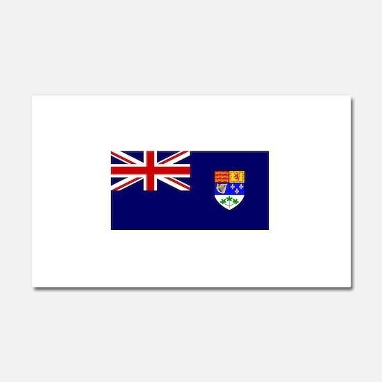 Flag of Royal Canadian Navy 1921-1957 Car Magnet 2