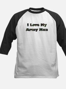 Love My Army Man Kids Baseball Jersey