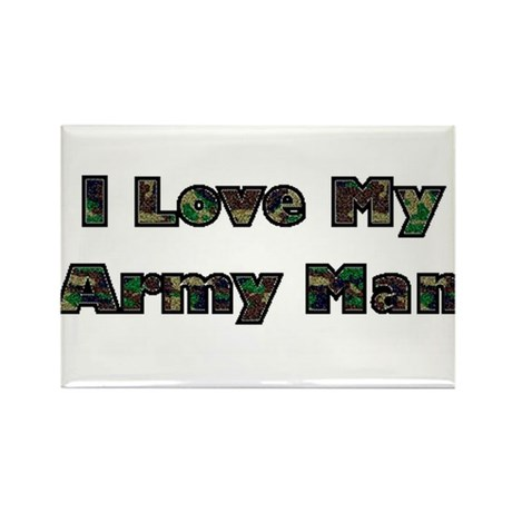 Love My Army Man Rectangle Magnet