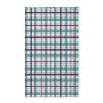 Plaid Basic Blue/Red 3'x5' Area Rug