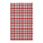 Plaid Basic Red 3'x5' Area Rug