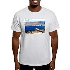 """""""Andros Island"""" Ash Grey T-Shirt"""