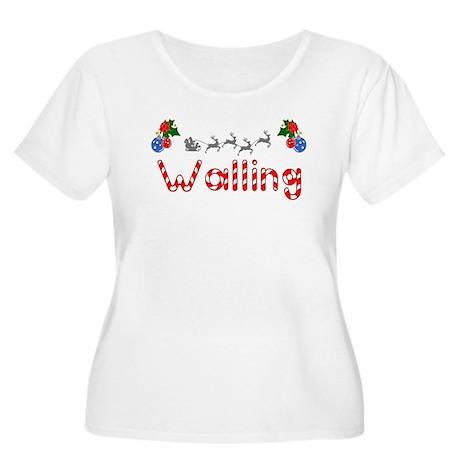 Walling, Christmas Women's Plus Size Scoop Neck T-