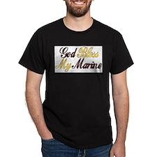 Marine Black T-Shirt