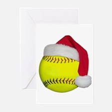 Softball santa png Greeting Cards