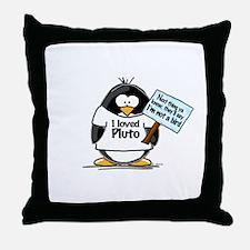 Pluto Penguin Throw Pillow