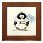 Pluto Penguin Framed Tile
