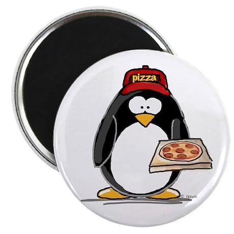 "Pizza Penguin 2.25"" Magnet (10 pack)"