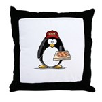 Pizza Penguin Throw Pillow