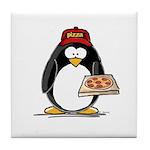 Pizza Penguin Tile Coaster