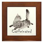 Catffeinated Framed Tile