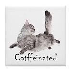 Catffeinated Tile Coaster