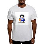 Basketball Penguin Ash Grey T-Shirt