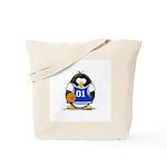 Basketball Penguin Tote Bag